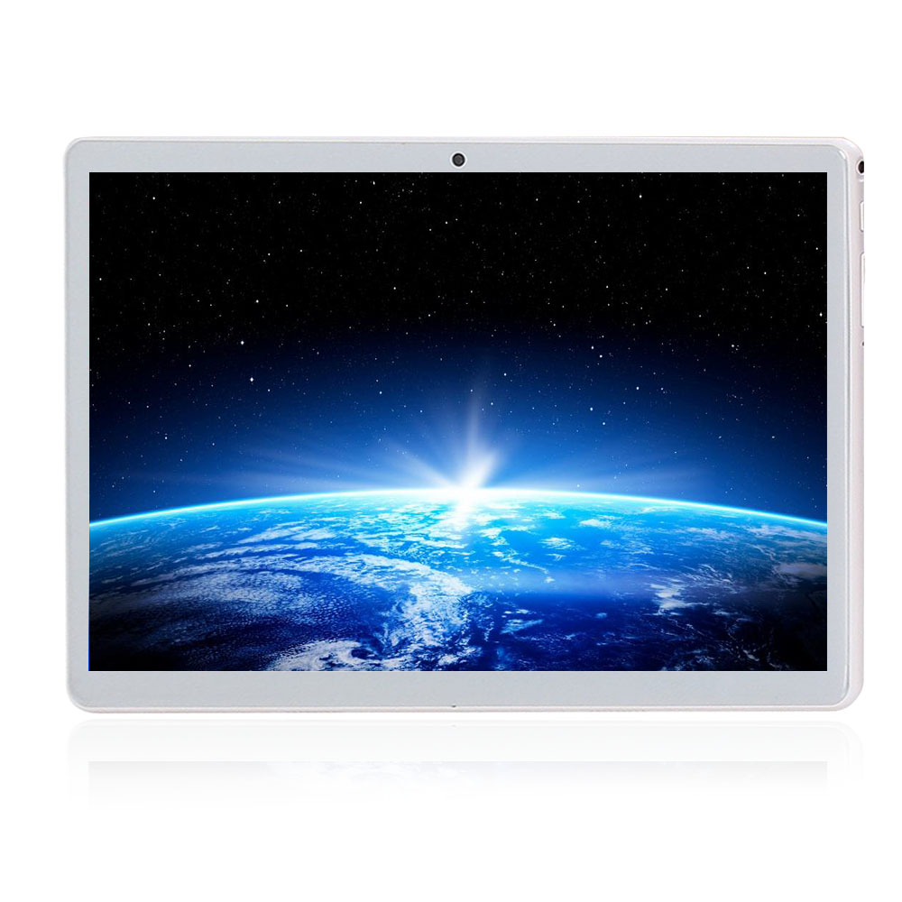 10.1 pouces tablette Pc tablette Android tactile tablette 1280*800 IPS 4GB + 64GB double SIM 3G tablette Quad Core Android 8.0 Bluetooth WiFi
