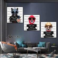 Холст животные Постер и принты тюрьма плохая собака картинки
