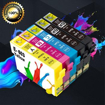 5PK 603XL E-603 T603 wkład atramentowy kompatybilny do projektora Epson 603 XL drukarki XP-4100 XP-4105 XP-3105 siły roboczej 2810DWF 2850DWF 2835DWF tanie i dobre opinie Unismar Pełna brother T603 603XL T603XL E-603 E603 Dye Ink Black Cyan Magenta Yellow BK-14ml Tri-color-13 5ml XP-2100 XP-3100 XP-3105