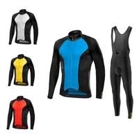 Spring Ropa Ciclismo Hombre MTB Long Sleeve Cycling Jersey Set 2019 Pro Team Mavic Cycling Clothing Men's Triathlon Skinsuit