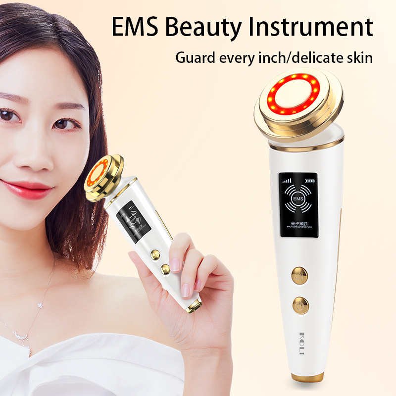 Image 3 - EMS Beauty Instrument LED Photon Light Therapy Facial Skin Care Tool Device Face Lifting Tighten ems massager Beauty Machine-in Face Skin Care Tools from Beauty & Health