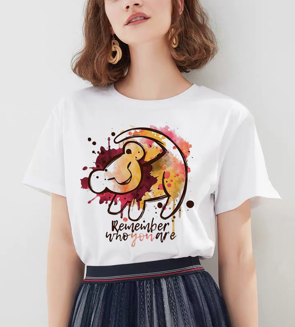 <font><b>Hakuna</b></font> <font><b>Matata</b></font> Shirt Women Harajuku Ullzang shirt the <font><b>lion</b></font> <font><b>king</b></font> print female T-shirt funny t shirts femme Summer tops tshirt image