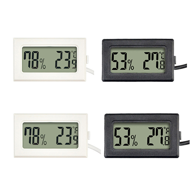 1Pc Mini Indoor Thermometer Digitale Lcd Temperatuur Sensor Vochtigheid Meter Thermometer Hygrometer Gauge Koelkast Thermometers 1