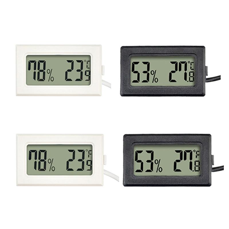 1Pc Mini Indoor Thermometer Digitale Lcd Temperatuur Sensor Vochtigheid Meter Thermometer Hygrometer Gauge Koelkast Thermometers 1