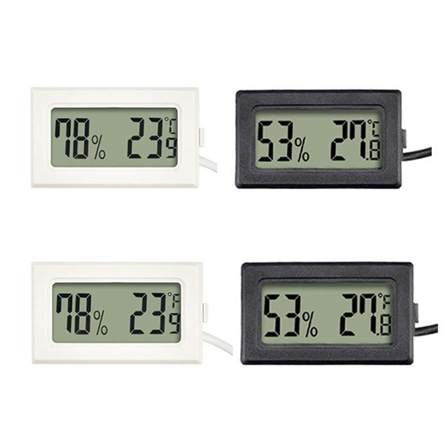1Pc Mini Indoor Thermometer Digital LCD Temperature Sensor Humidity Meter Thermometer Hygrometer Gauge Fridge Thermometers 1