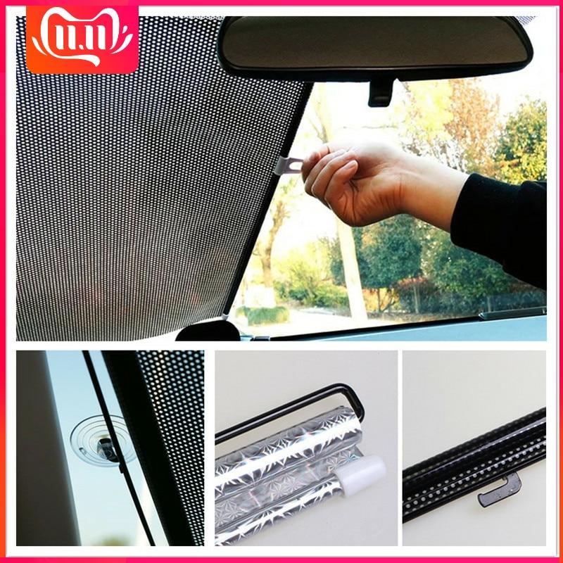 Auto Car Window Black Roller Block Blinds Shade Curtain for Sun Visor Windshield