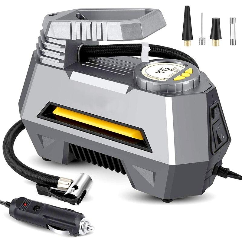 Gonfleur de pneu de voiture Portable 12V compresseur dair électrique arrêt automatique pompe à pneu de pompe à Air numérique avec lumière LED