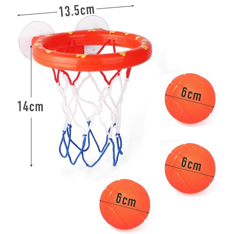 Toddler Bath Toys Kids Shooting Basket Bathtub Water Play Set for Baby Girl Boy with 3 Mini Plastic Basketballs Funny Shower 3