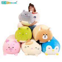 25/60/90cm Soft Animal Pillow Cushion Cute Fat Dog/Cat/Totoro/Penguin/Pig/Frog Plush Toy Stuffed Lovely Kids Girls Birthday Gift