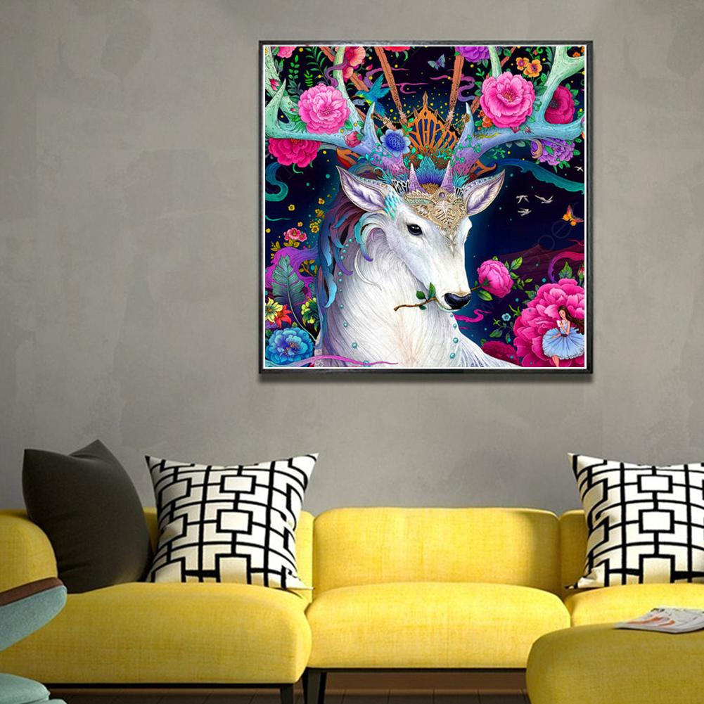 30x30cm Wolf Rose Tiger Deer Cross Stitch Craft DIY Diamond Painting Embroidery Crosses Home Room Wall Decor