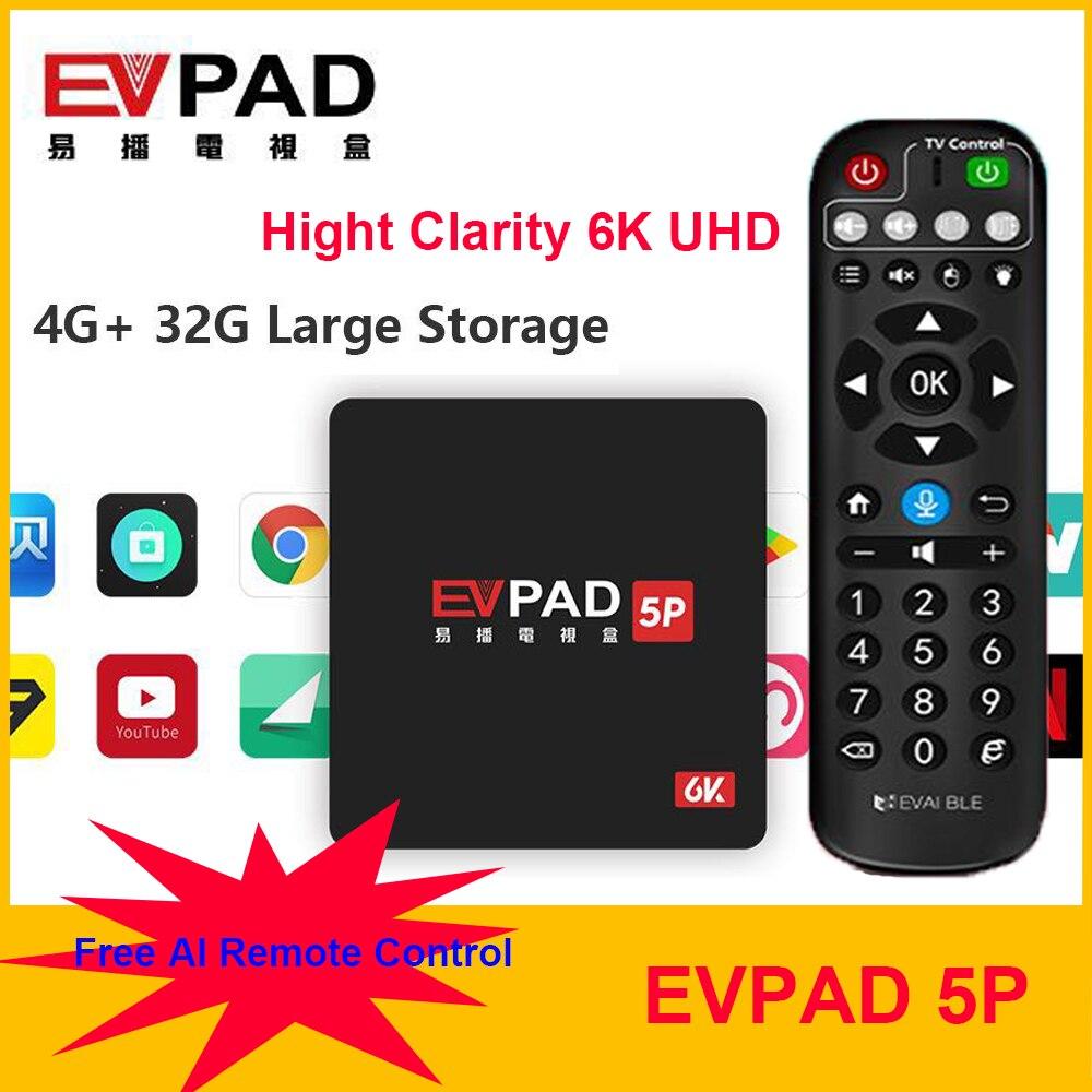 Fast Shipping[Genuine]Brand NEW EVPAD 5P 2020 Newest UHD 6K TV BOX Lifetime Live TV Box Movie Drama PORN VOD/PLAYBACK/timeshift