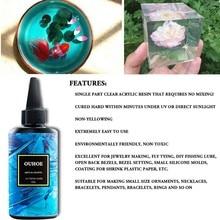 30/100/200g resina ultravioleta cola dura cura gel uv diy jóias artesanato fazendo 1xca