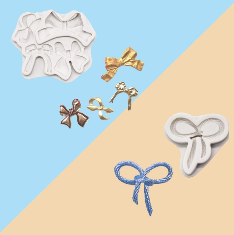 Luyou 1pc Bows Silicone Molds <font><b>Fondant</b></font> Moulds <font><b>Cake</b></font> <font><b>Decorating</b></font> <font><b>Tools</b></font> <font><b>Cake</b></font> Molds, Kitchen <font><b>Accessories</b></font> FM1949 image