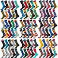 10 пар в партии, носки для детей Для мужчин широкую ногу из хлопка с фирменным логотипом Забавный Cut носки Crew Mid Длина мультфильм животных фрук...