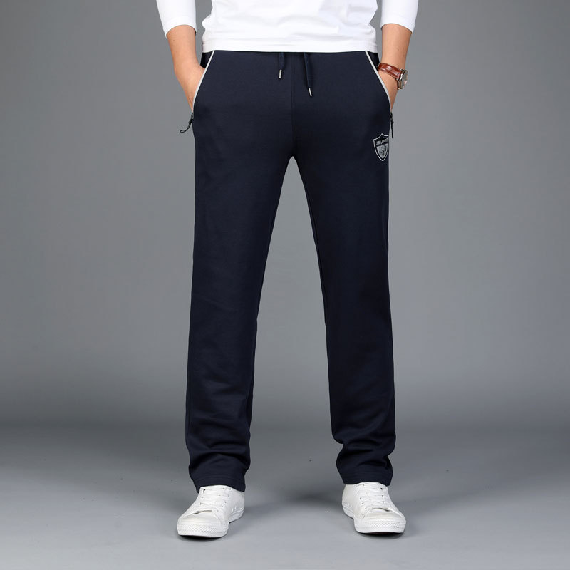 Jeep/Jeep Spring And Autumn Men Sports Sweatpants Lace-up Straight-Cut Medium Waist Large Size Men's Trousers Casual Sports Pant