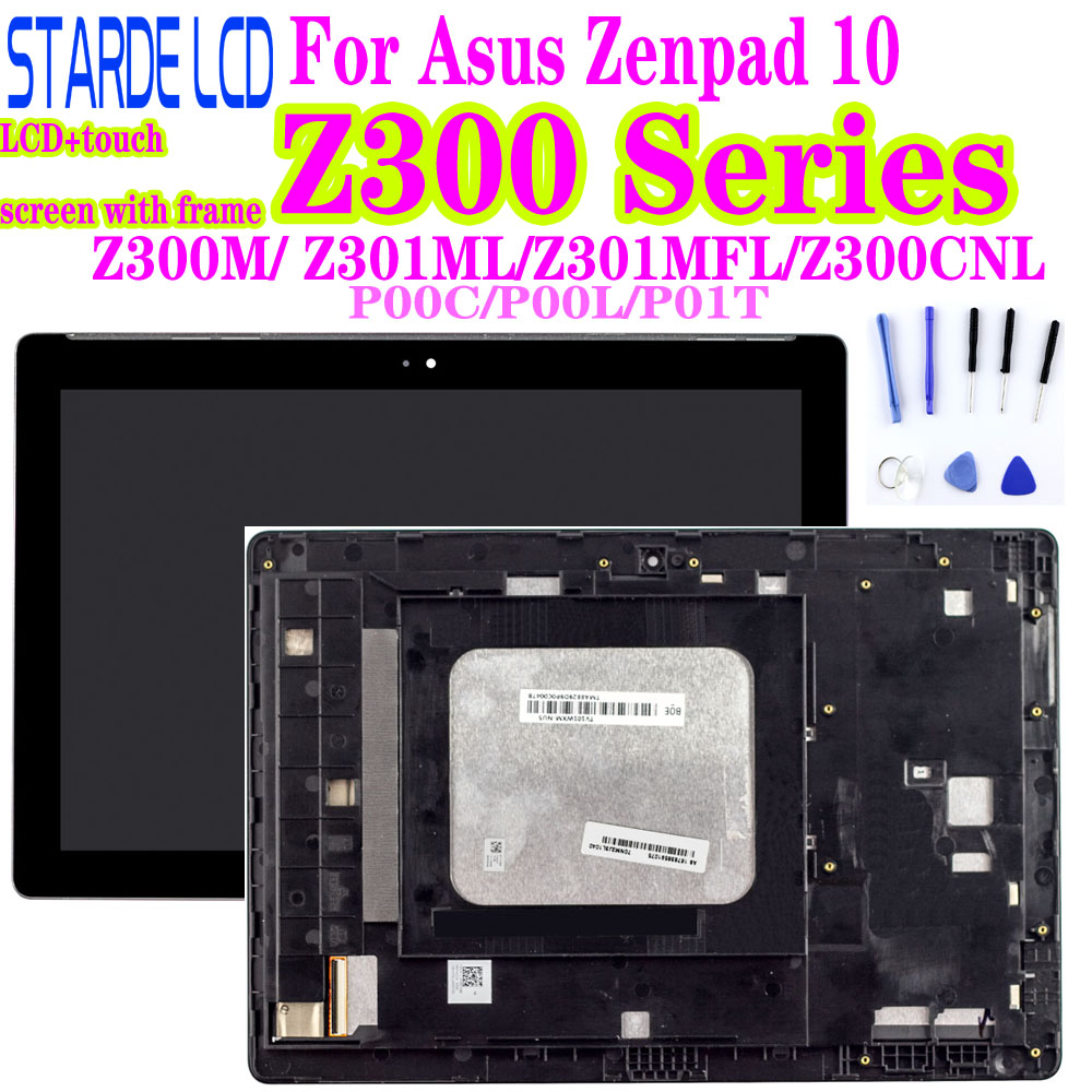 AAA Z300M P00C Z300C Z301MFL ML P00L Z300CNL P01T LCD For Asus Zenpad 10  LCD Display Touch Screen Assembly With Frame Digitizer