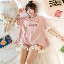 Harajuku Japan Anime Women Pajama Sailor Moon Shirts And Shorts Costume Set Homewear Kawaii Girls Cartoon Piama Mujer