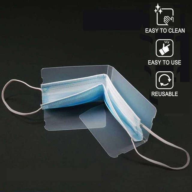 Foldable Disposable Dust Mask Storage Box N95 KN95 Ffp3 2 1 Face Mask Storage Bag PM2.5 Mouth Face Mask Storage Clip 3