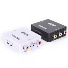 HDMI ZU AV Scaler Adapter HD Video Composite Converter Box HDMI zu RCA AV/CVSB L/R Video 1080P Mini HDMI2AV Unterstützung NTSC PAL