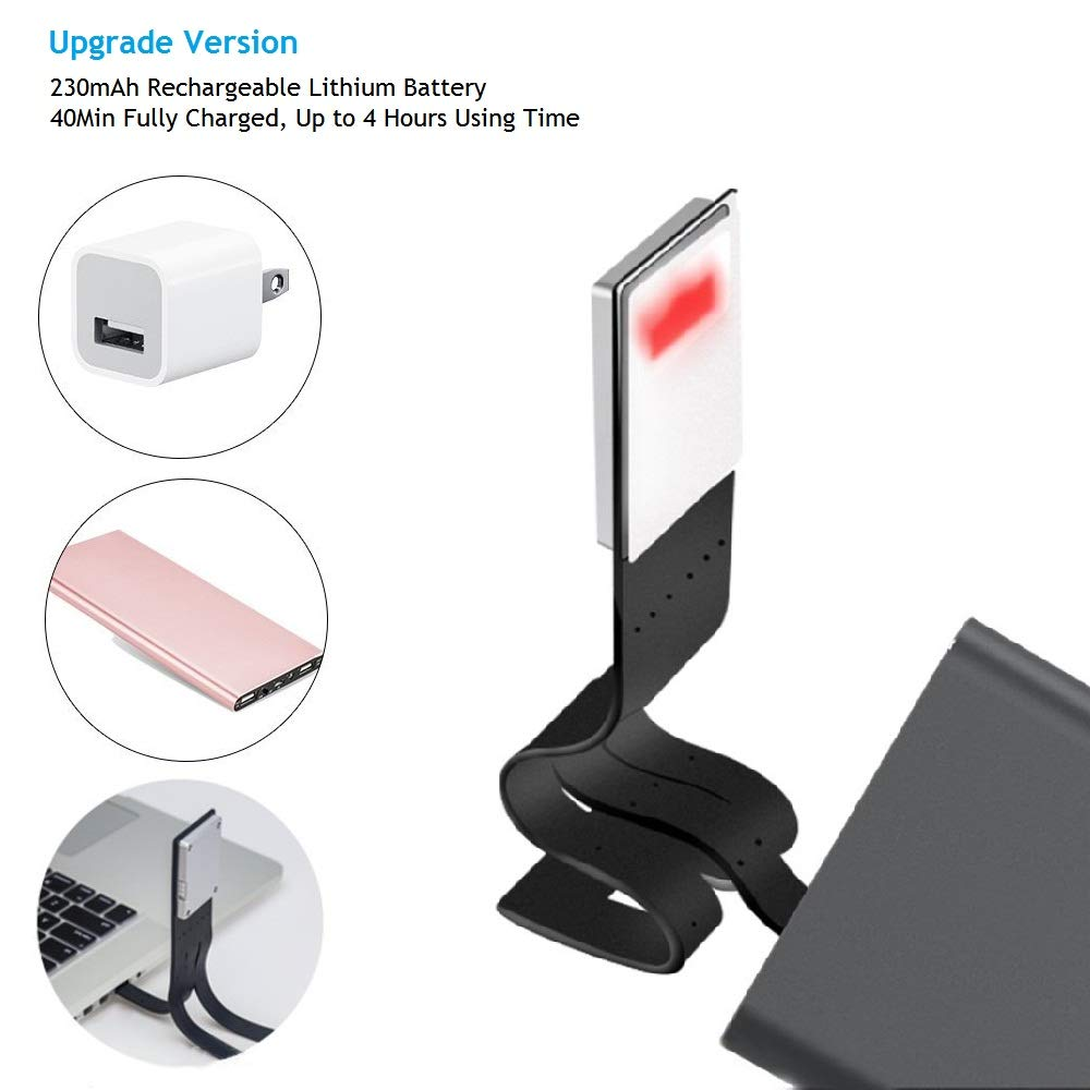 LEDGLE USB Rechargeable Reading Lamp Compact Desk Light Flexible Mini LED Lights Clip-on Table Flashlight for Kindle and Books 4