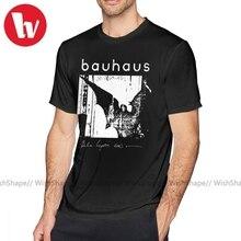 En kült T Shirt Bauhaus yarasa kanatları Bela Lugosi S ölü T Shirt plaj kısa kollu Tee gömlek komik erkek baskı büyük pamuk Tshirt