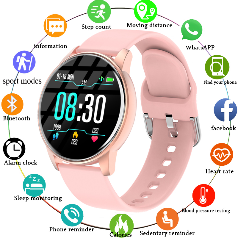 LIGE 2020 New Smart Watch Women Fashion Ladies Heart Rate Monitor Fitness Bracelet Sport Smartwatch APP Support For Android IOS