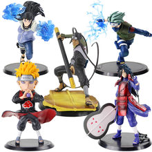 11-18cm Naruto Shippuden figurka Hatake Kakashi ból Uchiha Madara Hyūga Hinata Sarutobi Hiruzen Anime Naruto zabawki modele