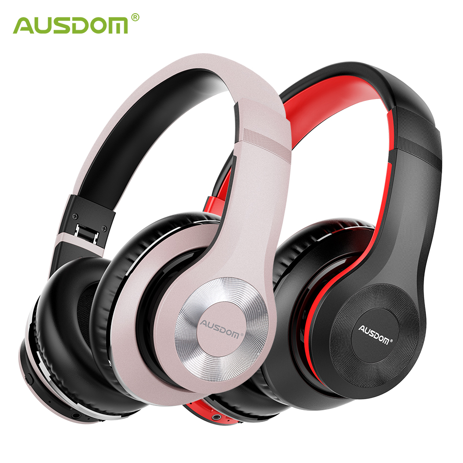 AUSDOM ANC10 Active Noise Cancelling Wireles Bluetooth Headphones 30 hours play time With HiFi Stereo Bluetooth 5 0 Headset