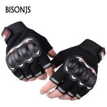 BISONJS 2020 New Half-finger Riding Men's Fitness Gloves Outdoor Sports Tactical Gloves Non-slip Wear-resistant Fingerless Glove