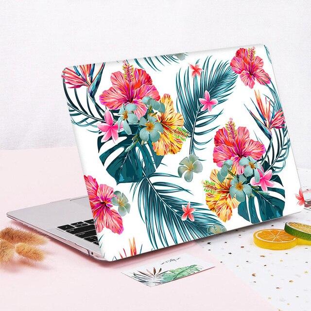 Marble Flower Case for Macbook  Retina Air 11 12 13.3 2020  A1932 A2179 Mac Book 13 15 Touch Bar/Touch ID 2019 A1990 A1707 A1706