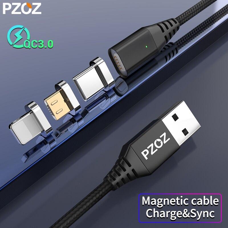 PZOZ câble Micro USB c USB c magnétique chargeur rapide Microusb Type c câble aimant chargeur pour iphone 8 Samsung S9 S10 xiaomi