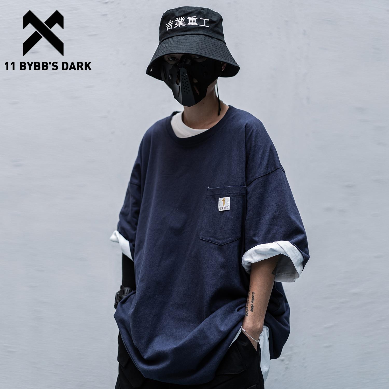 11 BYBB'S DARK Japanese Style Streetwear T Shirt Men Hip Hop Casual Short Sleeve 2020 Summer Fashion Casual Male Techwear Tshirt
