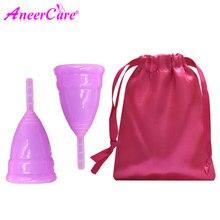 50pcs Copa Mestruale Lady Cup Medical Grade Silicone Mestruale Cup Femminile Igiene Mestruazioni Tazza Morbido Coupe Menstruelle