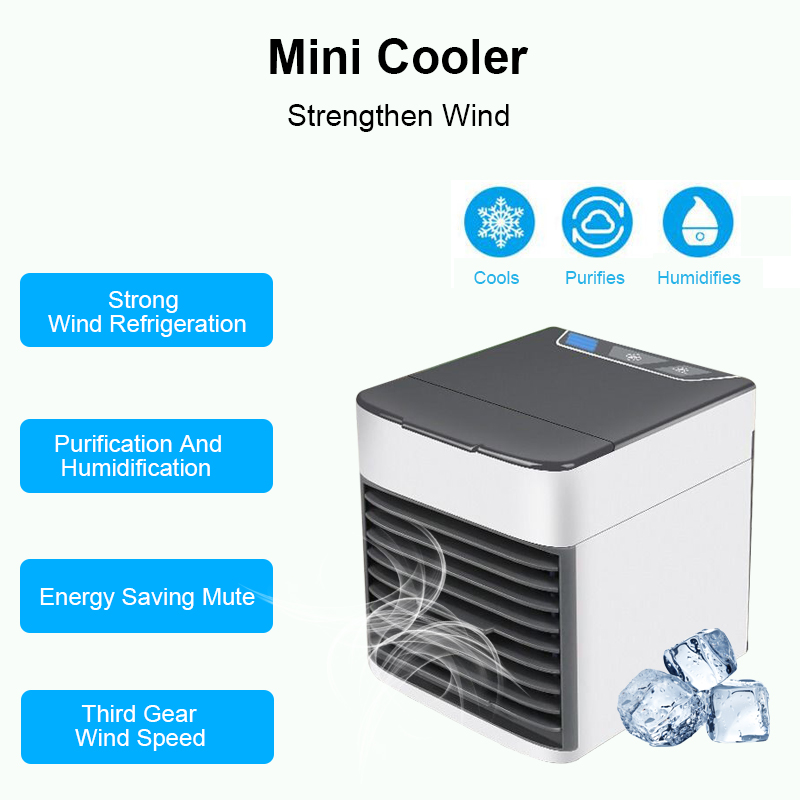 2019 Portable Air Conditioner Usb Desktop Air Conditioning Usb Convenient Air Cooler Fan Digital Humidifier Mini Air Cooling Fan