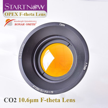10.6um F theta Scan Lens 10600nm 35x35 300x300mm F100 400mm ZnSe Thread M85mm CO2 Laser Field Lens For CO2 Laser Marking Machine