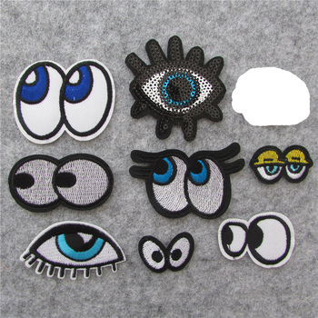 brand new eye Stripes On Clothes Embroidered Patches For Clothes Badges For Backpack Iron On Applique Sewing Accessories Crafts image