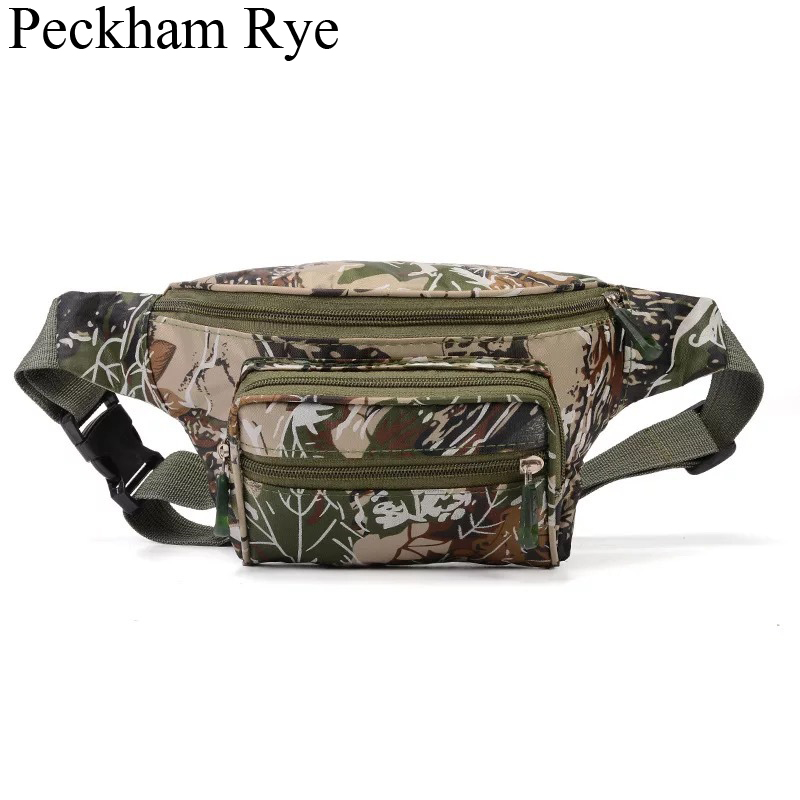 Camouflage Waist Bag Men Belt Bag Travel Fanny Pack Male Outdoor Shoulder Chest Bags Sports Waist Packs Waterproof Phone Pouch