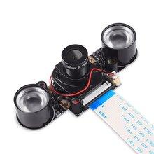 Raspberry Pi-cámara Focal ajustable con visión nocturna, módulo de cámara para Raspberry Pi 3 Modelo B 4B zero w