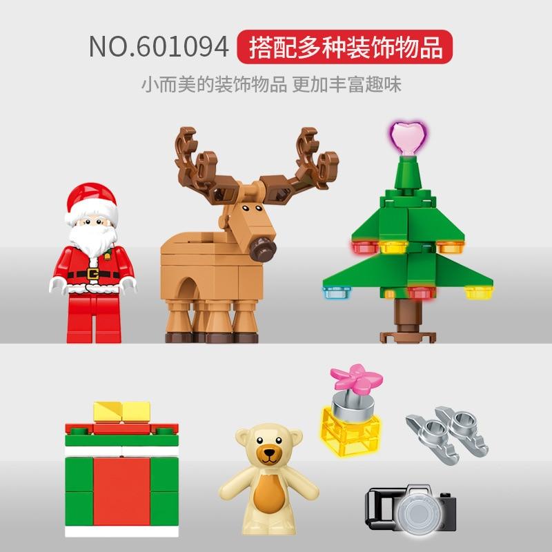 635PCS Christmas New Year Book Santa Building Blocks Bricks Model Toy Set