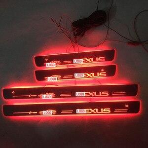 Image 5 - 4 יח\סט ישים כדי LLEXUS הזרמת צבע LED מנורת אדני דלת דוושה מוזמן/דינמי תאורת רכב סף לקסוס ES