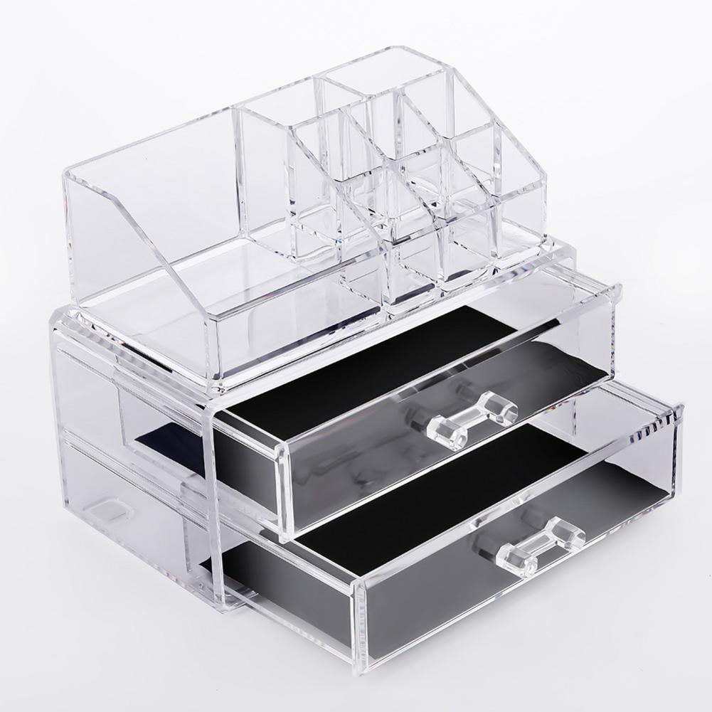 Multifunctional Transparent Acrylic Makeup Organizer Storage Make Up Lipstick Holder Jewelry Box Display