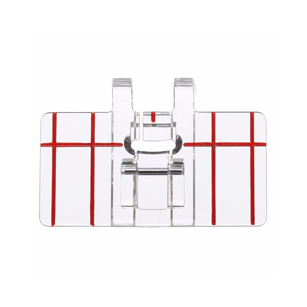 Plastic Border Guide Sewing Machine Presser Foot Parallel Stitch Feet Tool