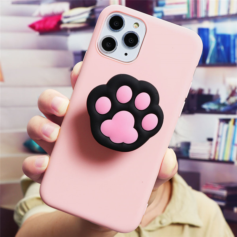 Cute Cartoon Print Design Made Of Soft TPU Material Standing Case For iPhone Mobiles 5