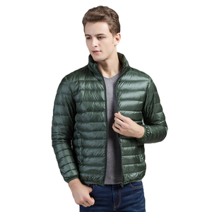 Image 4 - Brother Wang Brand Winter New MensDown Jacket Casual White Duck Down Light Down Men  Warm Coat male men clothes 2020