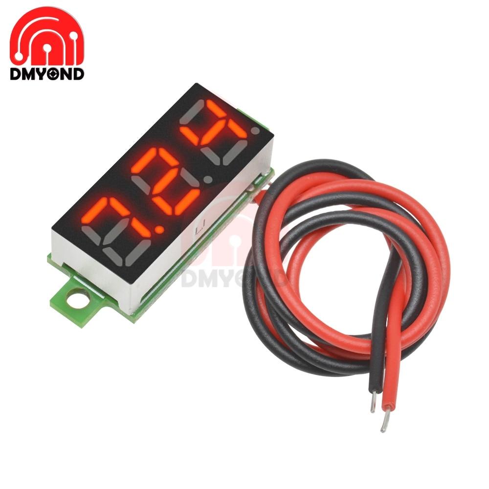 DC 2,5 в 30 в 12 В 24 в 0,28 дюйма 2 Провода вольтметр измеритель напряжения Вольт тестер детектор монитор красный светодиодный экран Автомобильный мотоцикл электрический Измерители напряжения      АлиЭкспресс
