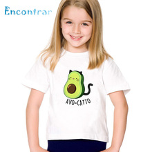 T-Shirt Kids Avocado Vegan Funny Clothes Short-Sleeve Print Boys/girls Children Cartoon