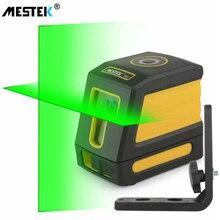 MESTEK poziom lasera 2 zielone linie samopoziomujący poziom lasera er pionowy poziomy krzyż laser czerwona belka linia przyrząd pomiarowy