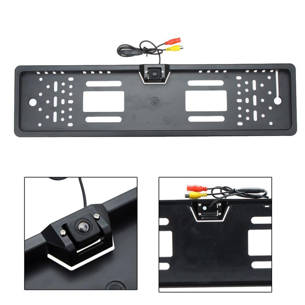 Hd Led License Plate Frame Reversing Rear View Camera Ccd Reversing Image System Super-easy Installation