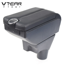 Vtear לניסן סאני Versa רכב משענת עור זרוע שאר usb אחסון תיבת פנים מרכז קונסולת רכב אביזרי 2012