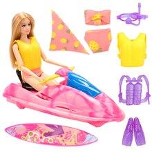 цена Fashion Handmade High Quality Water Toys Doll Accessory Swimsuit Life Jacket Dress Clothes For Barbie Best Gift Present For Girl онлайн в 2017 году